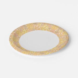 Pretzel Pattern 7 Inch Paper Plate