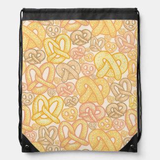 Pretzel Pattern Drawstring Bags