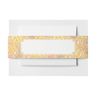 Pretzel Pattern Invitation Belly Band