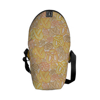Pretzel Pattern Messenger Bag
