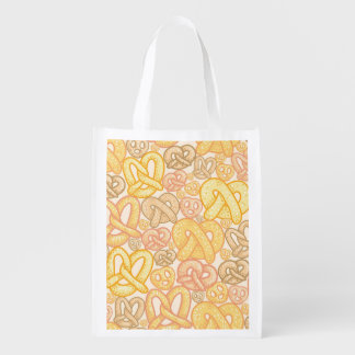 Pretzel Pattern Reusable Grocery Bag