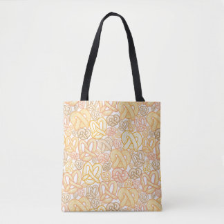 Pretzel Pattern Tote Bag