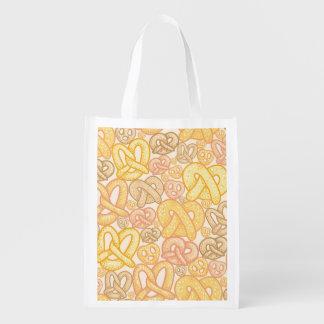 Pretzel Pattern Reusable Grocery Bags