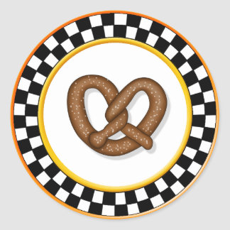 Pretzel & Round Checkerboard Stickers