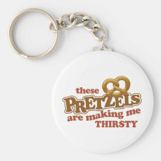 Pretzels Making Me Thirsty Basic Round Button Key Ring