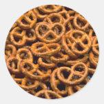 Pretzels Round Stickers