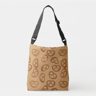Pretzels Snack seamless pattern + your background Crossbody Bag