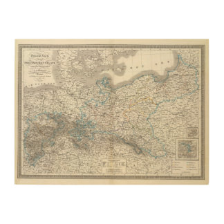 Preussische Staate - Prussian State Wood Canvas