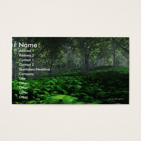 Prevailing Forest Business Card Template