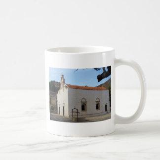 Preveli Monastery located in  Crete, Greece Basic White Mug