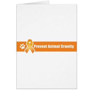 Prevent Animal Cruelty Card