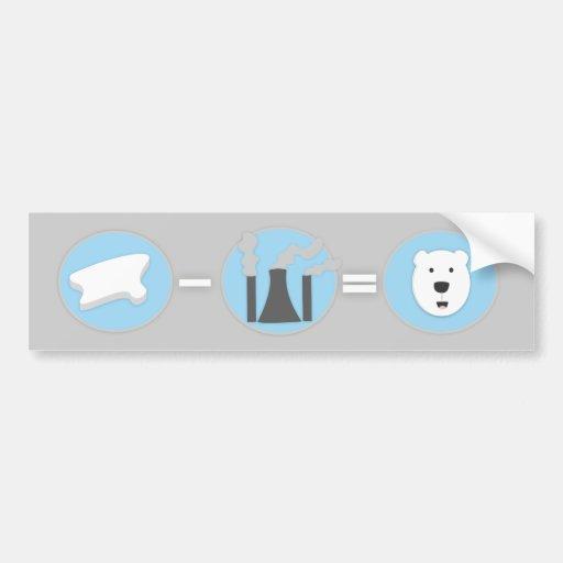 Prevent Global Warming Polar Bear Bumper Sticker!