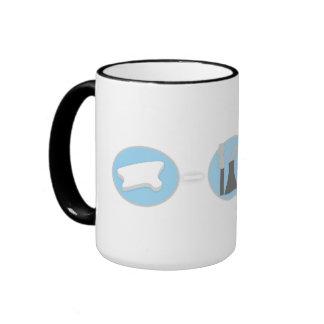 Prevent Global Warming Polar Bear Mug! Ringer Mug
