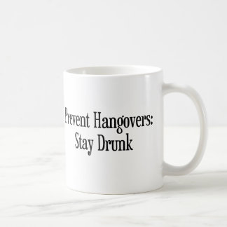 Prevent Hangovers Basic White Mug