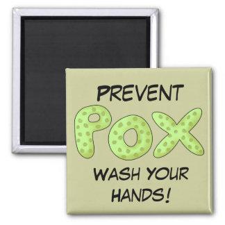 Prevent Pox Pirate Theme Refrigerator Magnet