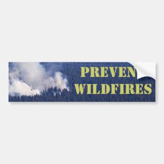 PREVENT WILDFIRES BUMPER STICKER