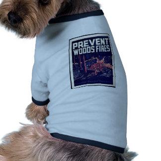 Prevent Woods Fires Ringer Dog Shirt