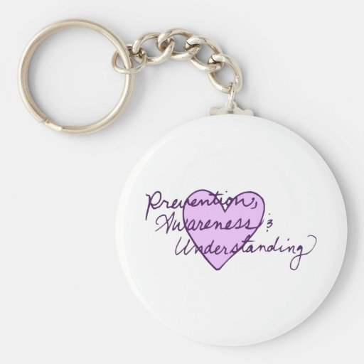 Prevention Awareness Understanding Basic Round Button Key Ring