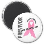 Previvor 1 Breast Cancer Refrigerator Magnet