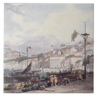 Pria Grande, Macao, c.1850 (colour litho) Tile