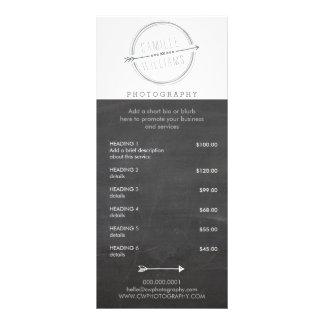 PRICE SERVICES LIST modern arrow logo rustic gray Rack Card