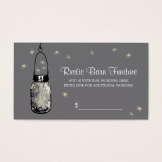 PRICE TAG Mason Jar & Fireflies Business Card