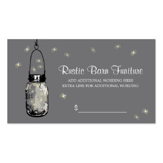 PRICE TAG Mason Jar & Fireflies Pack Of Standard Business Cards
