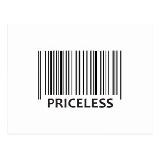 PRICELESS BAR CODE POSTCARD