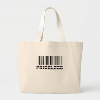 priceless barcode tote bags