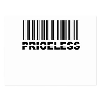 priceless barcode postcard