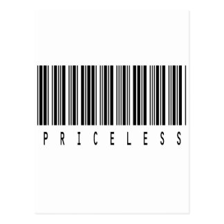 priceless barcode postcards