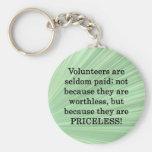 Priceless Volunteers Basic Round Button Key Ring