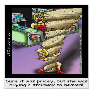 Pricey Heavenly Stairway Poster by Rick London