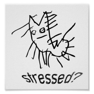 Pricklepuss ... Stressed? Print