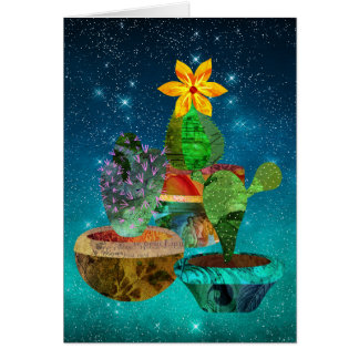 Prickly Cactus Starry Sky Apology Card