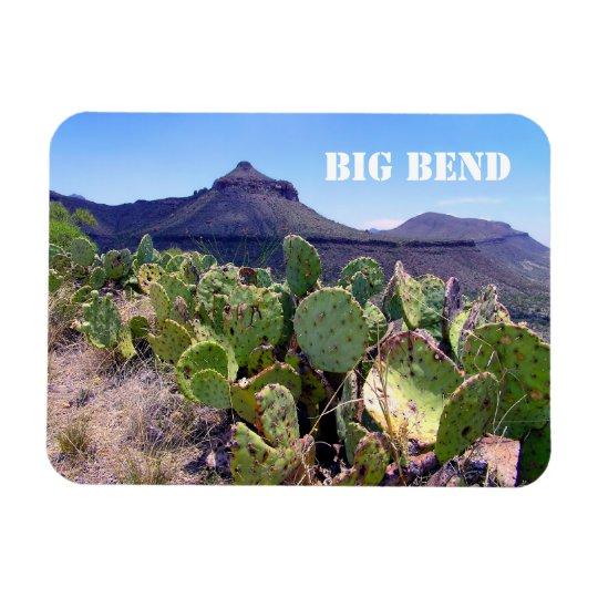 Prickly Pear Cactus Big Bend National Park Rectangular Photo Magnet