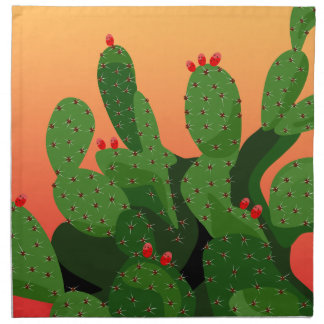 Prickly Pear Cactus Desert Sunset Napkin