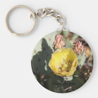 Prickly Pear Cactus,  Globe, Arizona Basic Round Button Key Ring