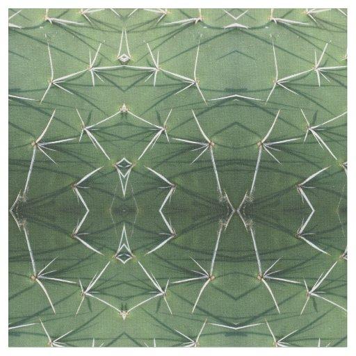 Prickly pear cactus pad thorns photo fabric