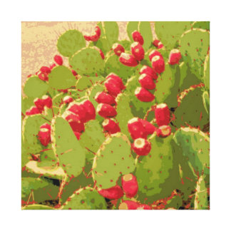 Prickly Pear Cactus Photo Abstract Gallery Wrapped Canvas