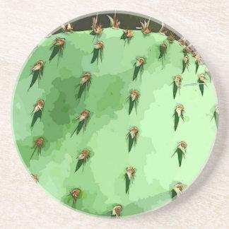 Prickly Pear Cactus Stone Coasters