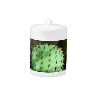 Prickly Pear Cactus Tea Pot