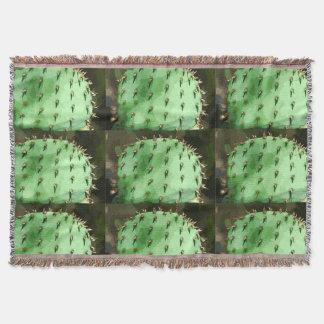 Prickly Pear Cartoon Throw Blanket