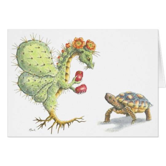 Prickly Pear Flower Dragon (card) Card
