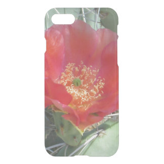 Prickly Pear Green with Red Bloom iPhone 7 Case