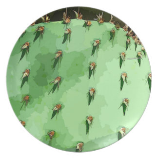Prickly Pear Melamine Decorative Plate