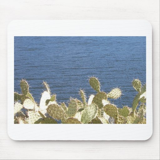 Prickly Pear on the Lake Mousepad