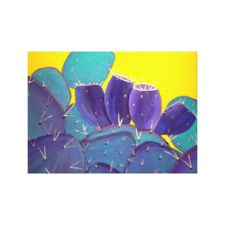 Prickly Pear with Fruit Stretched Canvas Print
