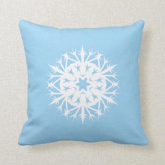 Prickly Snowflake Throw Pillow