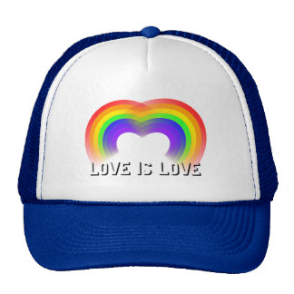 Pride and Equality Love is Love Mesh Hats